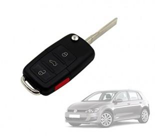 Carcasa para llave de coche con control remoto compatible con VOLKSWAGEN GOLF (4 botones)
