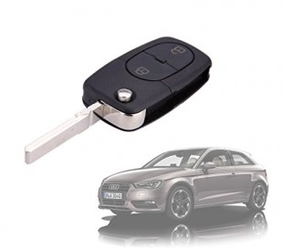 Carcasa para llave de coche con control remoto compatible con AUDI A2 (2 botones)