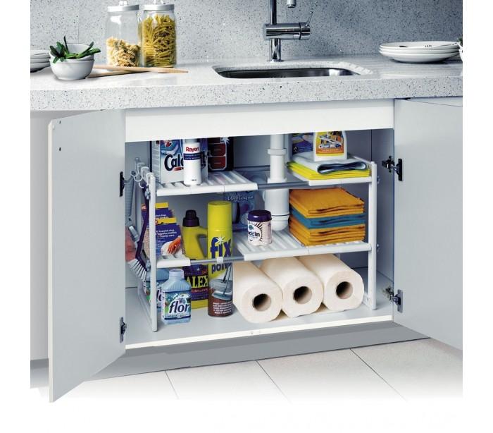 Estanter a modular de 2 niveles para interior armarios y - Estanteria interior armario ...