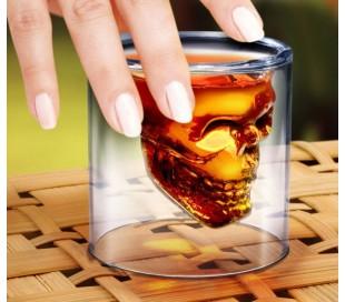 Kit de 2 tazas para beber hecho de vidrio borosilicato forma Calabera
