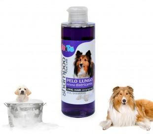 Champú con acción desenredante de aceite de lavanda y pantenol para perros de pelo largo (200 ml) IO&TE