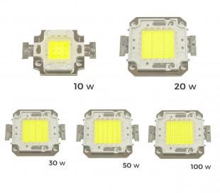 Placa LED de sustitución para focos de luz BLANCA FRÍA 6500 k en 10 – 20 – 30 - 50 ó 100 vatios
