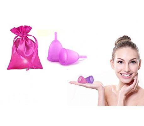 Copa menstrual reutilizable (100 % hipoalergénica y absorvente)