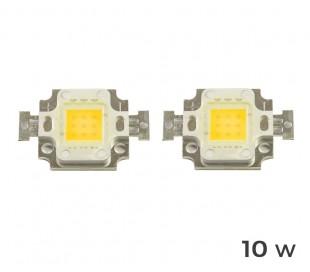 (Pack de 4) Placa LED de sustitución para focos de luz BLANCA FRÍA 6500 k en 10 – 20 – 30 - 50 ó 100 vatios
