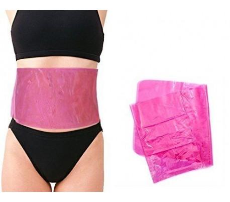Faja elástica de PVC (color rosa / 27 x 104 cm) para el adelgazamiento