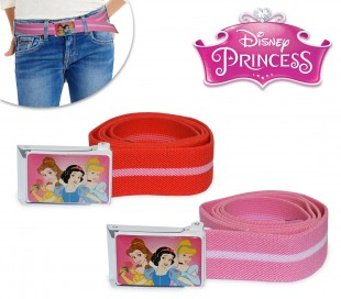 305884 Cinturón infantil para niña con motivo de PRINCESAS DISNEY (75 cm de longitud)
