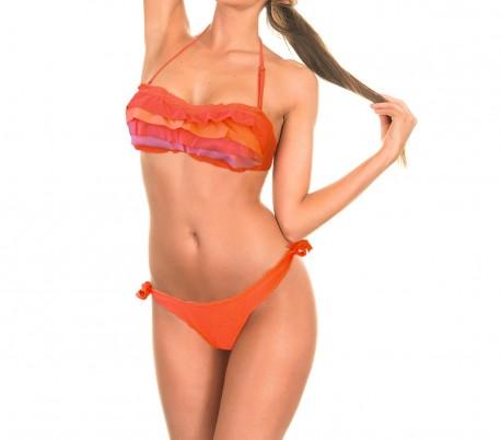 KL233 RUSTLE – Bikini para la mujer con bonitos volantes en la parte delantera