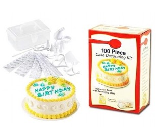 Cake design kit - Conjunto de 100 piezas que decoran tartas + maletín