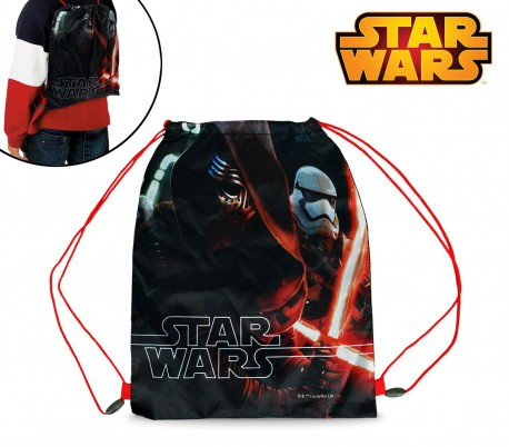 SWE7044 Bolsa mochila infantil (32 x 40 cm) con motivo de STAR WARS