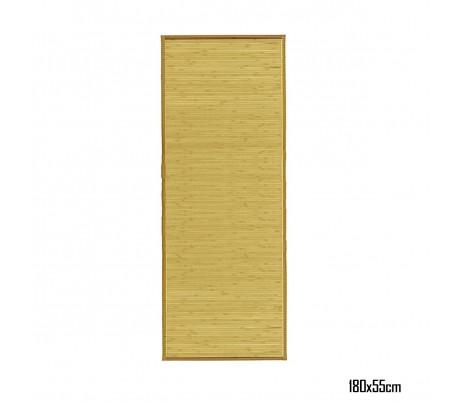 028519 Alfombra de bambú 180 x 55 cm / Base antideslizante – Decoración del hogar