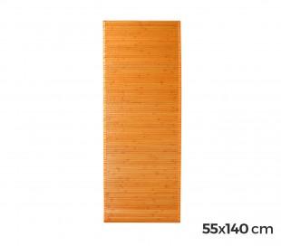 028502 Alfombra de bambú 140 x 55 cm / Base antideslizante – Decoración del hogar