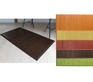 028489 Alfombra de bambú 60 x 90 cm / Base antideslizante – Decoración del hogar