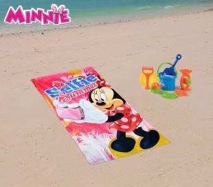 WD16936 Toalla infantil de playa con motivo de ANNA FROZEN (70 x 140 cm / 100% algodón)