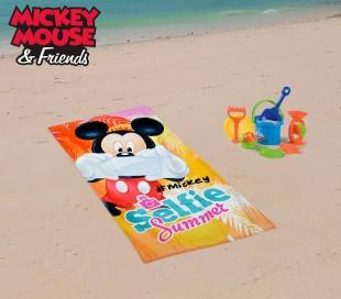 WD16933 Toalla infantil de playa con motivo de MINNIE MOUSE (70 x 140 cm / 100% algodón)