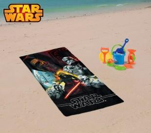 SW14057 Toalla infantil de playa con motivo de STAR WARS (70 x 140 cm / 100% algodón)