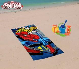 MV92258 Toalla infantil de playa con motivo de SPIDERMAN (70 x 140 cm / 100% algodón)