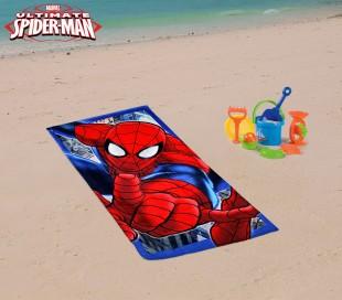 MV51003 Toalla infantil de playa con motivo de SPIDERMAN (70 x 140 cm / 100% algodón)