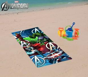 MV15066 Toalla infantil de playa con motivo de SPIDERMAN (70 x 140 cm / 100% algodón)