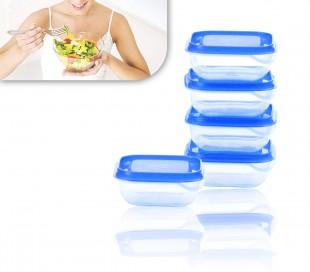 671815 Set de 5 tapers plástico para óptima conservación de alimentos