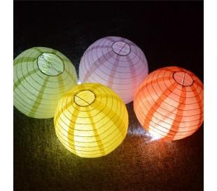 137148 Linterna de cielo en forma REDONDA apta para interiores y exteriores (Pack de 5 piezas)