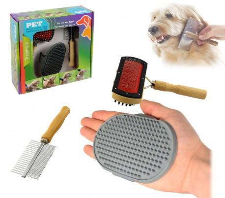 82009 PET - Kit completo de 3 piezas para la limpieza y cuidado de nuestro perro