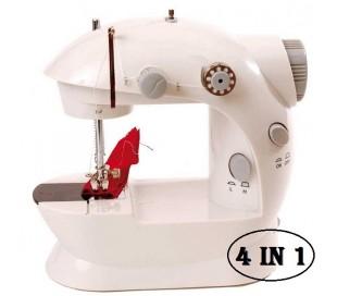 Máquina de coser portátil funciona pilas y corriente (4 en 1)