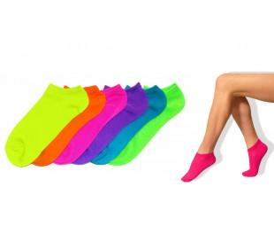 N703-1 Pack de 6 pares de calcetines VERANO NEON mujer Talla35/40