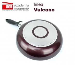 VUPDL24 Sartén antiadherente - Accademia Mugnano linea Vulcano 24cm efecto piedr