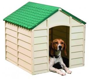 50701 Cama para perro en forma de casa talla grande 78x85x80 cm