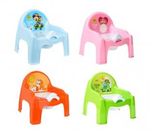 091103 Orinal de plástico para niños en cuatro divertidos colores