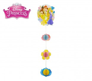 PB952 Pack de 2 guirnaldas con motivo de PRINCESAS - decoración fiestas DISNEY