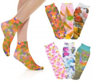 350-2 Pack de 6 calcetines 20 den con motivo de FANTASIA (talla única 25/41)