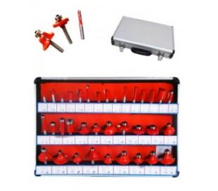 Set 35 fresas kit cortador tallo 6 mm para madera marco pantógrafo