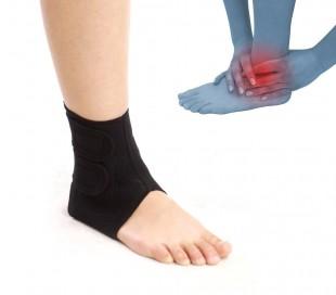 Banda de apoyo neopreno para el tobillo de doble bloqueo con velcro negro