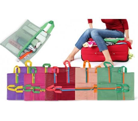 Set de 4 organizadores derejilla para viajes y maletas