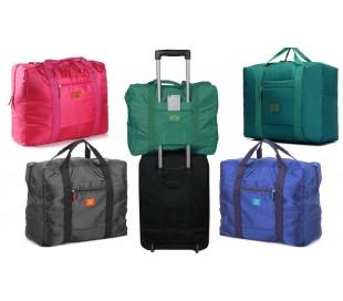 2791 Bolsa de tela plegable de mano resistente al agua con el apoyo para maletas