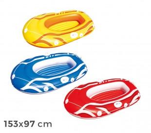 61050 Bestway Bote inflable en 3 colores 155 x 93 cm para niños y adultos