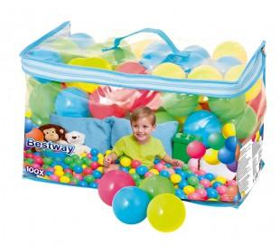 52027 Kit de 100 bolas colores de plástico Bestway