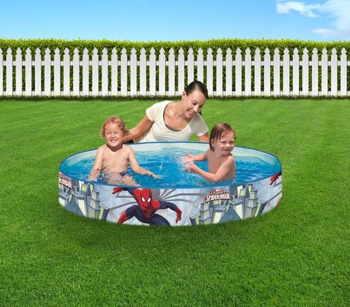 98010 piscina rig da bestway redonda motivo spiderman 152 for Piscina bestway redonda