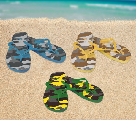 2073 Chanclas hombre fantasía militar 3 colores zapatillas de playa caucho