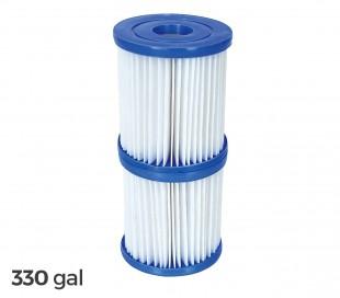 58093 Kit 2 repuesto filtros Bestway 1249 L / H piscina motor de 330 galones