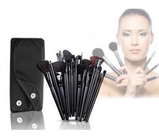 Set de 32 pinceles make-up uso profesional o uso personal + estuche