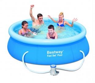 57268 piscina redonda bestway 244 x 66 cm pvc con motor - Piscina hinchable decathlon ...