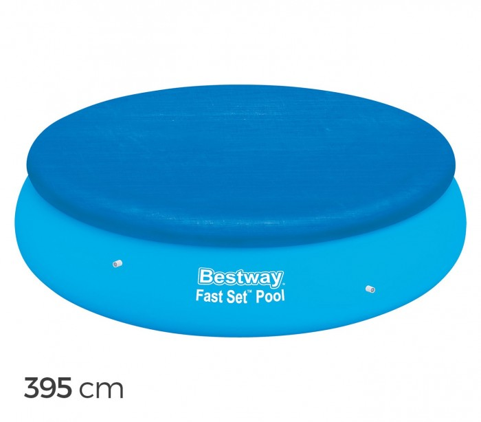 58034 cubierta piscina de 395 cm bestway en el pvc for Cubierta piscina bestway