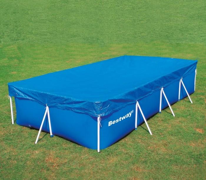 58107 cubierta piscina rectangular de 410x226 cm bestway for Cubierta piscina bestway