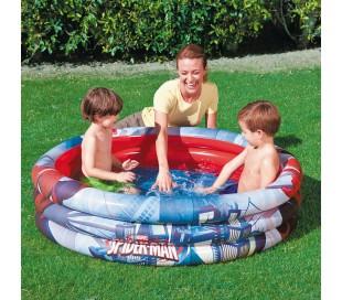 98018 piscina inflable de 122 x 30 cm anillos Bestway Spiderman 3 niños