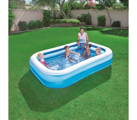 54006 piscina inflable bestway 262x175x51cm vinilo 2 anillos for Vinilos para piscinas