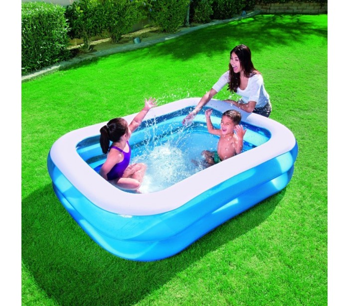 54005 piscina rectangular inflable bestway 2 anillos for Piscina inflable bestway