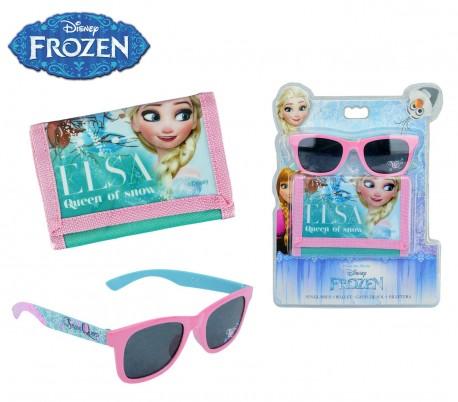 WD17039 Set de gafas de sol con cartera de la Frozen