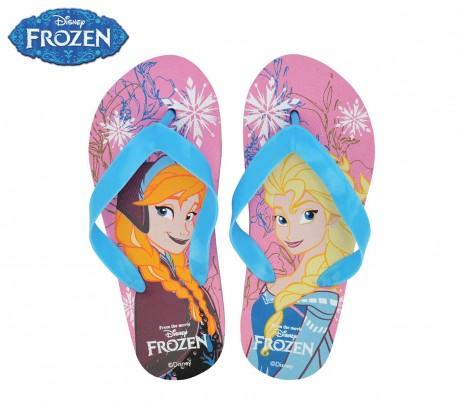 VD1698 Chanclas infantiles de goma con motivo de Frozen